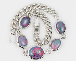 Modern Design 5pc  Oval Opal Triplet Bracelet  OPJ 2011
