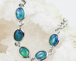 Modern Design 5 pc  Oval Opal Triplet Bracelet  OPJ 2030