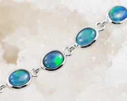 Modern Design 5 pc  Oval Opal Triplet Bracelet  OPJ 2031