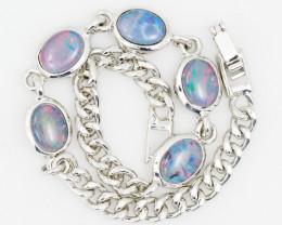 Modern Design 5 pc  Oval Opal Triplet Bracelet  OPJ 2033