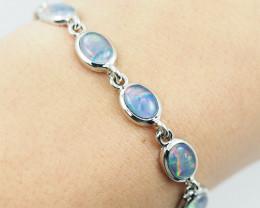 Modern Design 5 pc  Oval Opal Triplet Bracelet  OPJ 2034