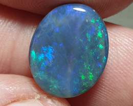 5crt Black Opal Oval Lightning Ridge