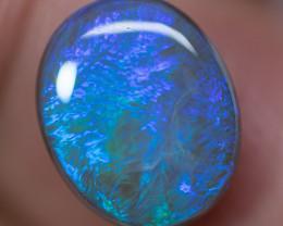 DARK CRYSTAL OPAL LIGHTNING RIDGE SOLID NATURAL 3.15ct GEM $1 N/R AUCTION C