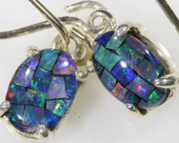 Modern Swing  Design  Oval Opal Triplet Earring  OPJ 2021