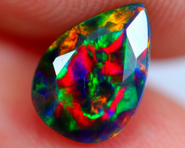 0.86cts AAAA Natural Ethiopian Faceted Smoked Opal YY90