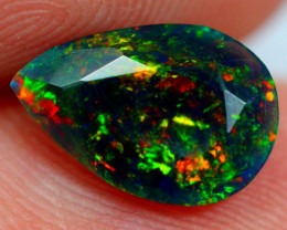 0.80cts AAAA Natural Ethiopian Faceted Smoked Opal YY92