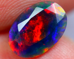 0.67cts AAAA Natural Ethiopian Faceted Smoked Opal YY94