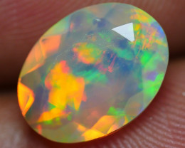 1.40 CRT GORGOEUS FACETED FLOWER CHAFF PATTERN PLAY COLOR WELO OPAL-