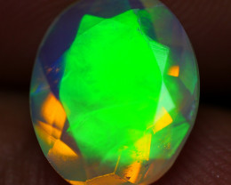 1.60 CRT BEAUTY NEON FLASH FACETED PLAY COLOR WELO OPAL-