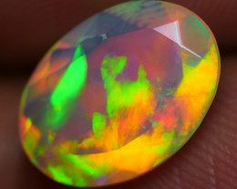 1.90 CRT BEAUTY FACETED ROLLING FLASH PATTERN COLOR WELO OPAL-