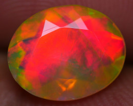 1.35 CRT GORGOEUS FECETED BROAD FLASH FIRE PLAY COLOR WELO OPAL-