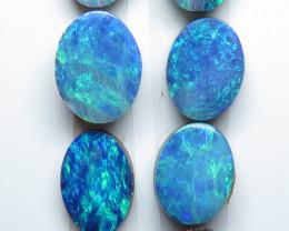 7x5mm  x 8x5mm  8 Stone Australian Doublet Opal Parcel