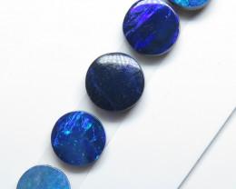 6mm  & 5mm  5 Stone Australian Doublet Opal Parcel