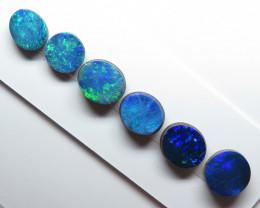 6  Stone Australian Doublet Opal Parcel