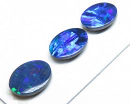2.59ct - 3  Stone Australian Doublet Opal Pair and Pendant Parcel