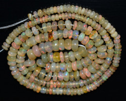 46.00 Ct Natural Ethiopian Welo Opal Beads Play Of Color