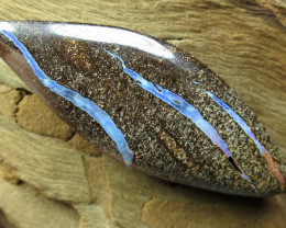 52cts, BOULDER OPAL~SIDE DRILLED