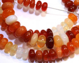 68 CTS MEXICAN FIRE OPAL STRANDS FOB-227
