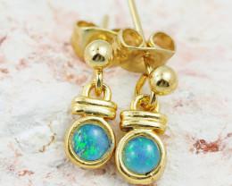 Cute Australian Triplet Opal Earrings  OPJ 2076