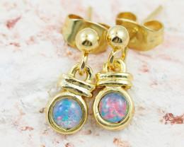Cute Australian Triplet Opal Earrings   OPJ 2079