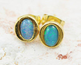 Cute Australian Triplet Opal Earrings   OPJ 2083