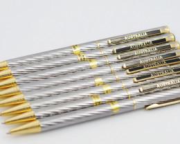 Clearance 8 opal  silver pens OPJ 2089