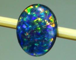 1.05 ct $1 NR Auction Gem Multi Color Triplet Opal