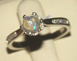 Natural Ethiopian Welo Opal 925 Silver Ring Size (7 US) 4