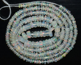 24.40 Ct Natural Ethiopian Welo Opal Beads Play Of Color