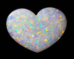 4.42Cts  fire   Heart Shape  Coober Pedy Fire Opal   OPJ 2085