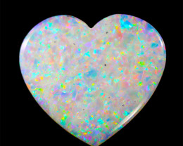 3.84Cts  fire  Lovers  Heart Shape  Coober Pedy Fire Opal   OPJ 2086