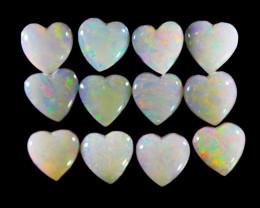 3Cts Heart shape   fire    Coober Pedy Fire Opal s  OPJ 2087