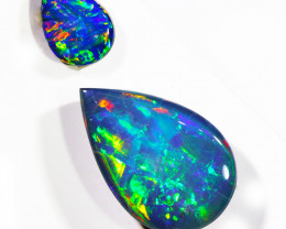 4.2Cts Gem  Pair Opal Doublets  OPJ 2099