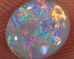 1ct 8.5x7mm Solid Lightning Ridge Dark Opal [LO-1639]