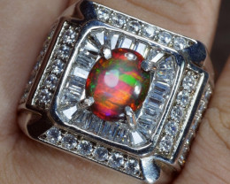 GORGEOUS WELO SMOKED OPAL WITH HANDMADE RING 6 US