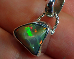 8ct. Blazing Welo Solid Opal Sterling  Pendant