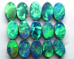 5mm  x 3mm  15 Stone Australian Doublet Opal Parcel