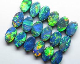 5mm  x 3mm  18 Stone Australian Doublet Opal Parcel