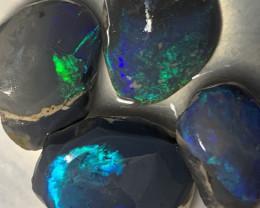 49.5 CTs of Rubs; Lightning Ridge Dark Base Rub Opals,#727