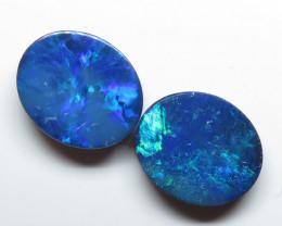 12x10mm 5.96ct 2 Stone Australian Doublet Opal Parcel
