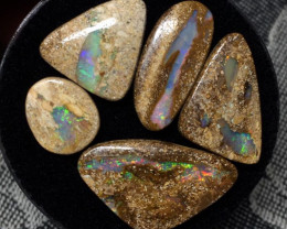 27,35 cts - parcel of 5 boulder pipe opal - PO92