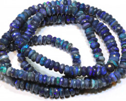 62.3 CTS BLACK OPAL FACETED BEADS STRAND TBO-9216