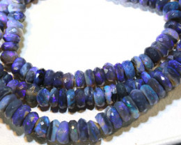 60 CTS BLACK OPAL FACETED BEADS STRAND TBO-9219