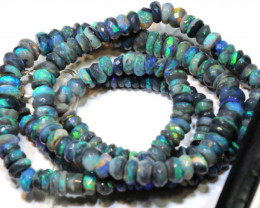 58 CTS BLACK OPAL FACETED BEADS STRAND TBO-9222