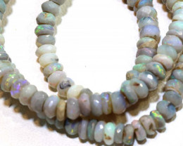 66 CTS L RIDGE DARK BASE OPAL FACETED BEADS STRAND TBO-9231