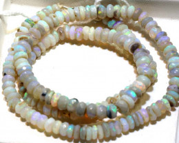 69 CTS L RIDGE DARK BASE OPAL FACETED BEADS STRAND TBO-9234