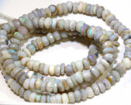 49 CTS L RIDGE DARK BASE OPAL FACETED BEADS STRAND TBO-9236