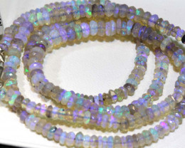 39.90 CTS CRYSTAL OPAL FACETED BEADS STRAND TBO-9237