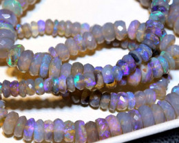 71 CTS  L RIDGE CRYSTAL OPAL FACETED BEADS STRAND TBO-9259