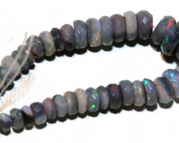 Faceted Black Opal Beads